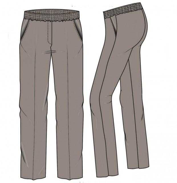Lily-w  Pantalon elastiek rondom