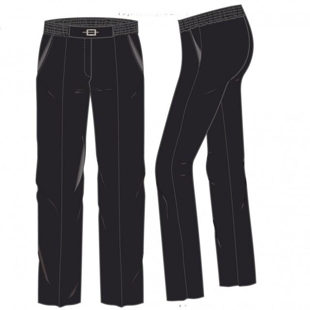 Livia-w  Pantalon elastiek rondom gesp